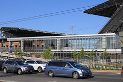 UW Station and Husky Stadium (SounderBruce) Tags: huskystadium glassbox lightrailstation montlakeboulevard universitylink linklightrail uwstation wa513 universityofwashingtonstation