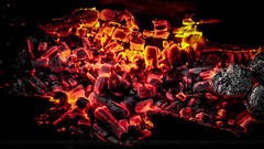 Burning Charcoal (dr.7sn Photography) Tags: wallpaper texture fire burning charcoal pollution electricity coal gril