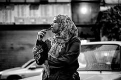 Away.... (Alfy's) Tags: city people blackandwhite bw black monochrome faces sony egypt streetphotography cairo streetphoto streetpics streetphotographybw a6000 streetzen