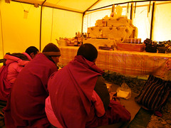 Monks and puja offering (markhorrell) Tags: tibet everest puja