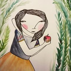 Be careful, Snow white... (ceciliasantanach) Tags: art illustration ink artist gallery drawing creative doodle illustrator doodles draw snowwhite dibujo ilustracion blancanieves childrenillustration blancaneus illustracio