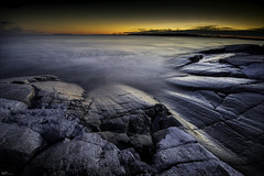 Kallo_bay_HDR (sitophotography) Tags: travel sunset sea panorama orange seascape beach windmill stone suomi finland landscape photography long exposure waves sony getting alpha nikkor gitzo novoflex darker kallo 1635mm flm a7r sitophotography