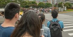 Shanghai streets 13 (stevefge) Tags: china shanghai people girls street crossing candid reflectyourworld