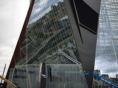 Boom Operator (-jamesstave-) Tags: minneapolis mpls minnesota mn twincities city urban downtown construction site architecture building geometric abstract vikings nfl usbankstadium reflection plaza boom geniesx180 iphone5s