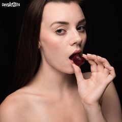 Arrielle-2885 (DEVSart) Tags: nikon d810 tamron2470 strobe homestudio arrielle pretty girl lady woman longhair cherry sexy snack