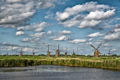Mills all over (B. Versteeg) Tags: sky holland mill water dutch grass clouds nikon wind outdoor nederland wolken molen molens d700