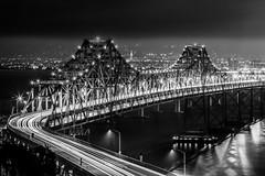 Decisions That Had to Be Made (Thomas Hawk) Tags: baybridge california sanfrancisco treasureisland usa unitedstates unitedstatesofamerica yerbabuenaisland bridge bw fav10 fav25 fav50 fav100
