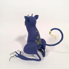 back2 (MelissaSueArt) Tags: plush handmade tootsiemonster horror embroidery monster creature purple amethyst designertoy arttoy fauxtaxidermy stuffed stitched teeth claws nightmare softie