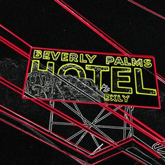 Beverly Palms (magnetic_red) Tags: abstract lines sign night vintage hotel neon bright lasvegas surreal leading crowngraphic