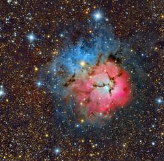 Messier 20 (Roberto Colombari) Tags: messier20 m20 trifid astrofotografia astrophotography deepsky deepskywest sky nebulas nebulae stars astrometrydotnet:id=nova1649768 astrometrydotnet:status=solved
