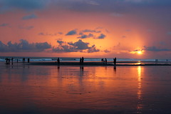 Indian Ocean (I.M.W.) Tags: ocean sunset sea sky orange cloud sun reflection beach silhouette coast indianocean shore bangladesh coxsbazar
