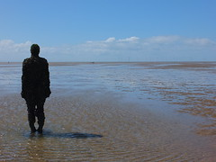 DSCF0665 (SierPinskiA) Tags: sea shells beach liverpool sand ironman pools barnacles ironwork mayday seashore merseyside anthonygormley irishsea 2016 anotherplace crosbybeach blundellsands fujixs1