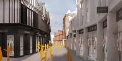 The view along Hamilton Place towards Northgate Street