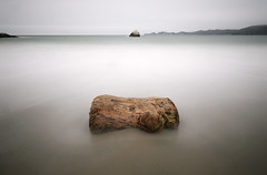 stump with a view (hbphototeach) Tags: stump marshalls beach san francisco california bay area landscape seascape muted colors long exposure