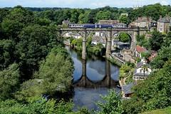Knaresborough Viaduct (diminji (Chris)) Tags: yorkshire loveyorkshire knaresborough viaduct bridges nidd rivernidd trains railway reflections