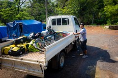 Jose helping us unload our bikes.