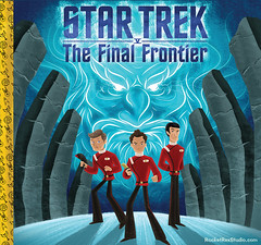 Star Trek 5 The Final Frontier (rocketrexstudio) Tags: startrek children fun gold artwork god space adventure fanart spock beyond illustrator enterprise kirk freelance captainkirk ussenterprise mccoy williamshatner goldenbooks graphicdessigner startekbeyond