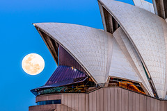 Pacman (silardtoth) Tags: australia opera house sydney architecture background bay beautiful blue building cbd central circular quay city cityscape closeup famous full fullmoon harbor harbour iconic landmark moon moonshine new south wales night nsw theater urban operahouse circularquay icon newsouthwales ocean water