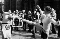 Fringe on the Mile 2016 0216 (byronv2) Tags: fringe fringe2016 edinburgh edinburghfestival edinburghfestivalfringe edinburghfringe edinburghfringe2016 edinburghfestivalfringe2016 peoplewatching candid street edimbourg oldtown royalmile sunny performer blackandwhite blackwhite bw monochrome woman girl beautiful pretty sexy frame pictureframe legs nipple pokies nipples breasts boobs