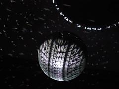 SPACE (dream/imagination) Tags: light space art disko ball lowlight black darkness letters olympus omd em10 mzuiko digital 45 mm micro four thirds schwarzer hintergrund earth rotation luminous high iso zentrum fr internationale lichtkunst unna