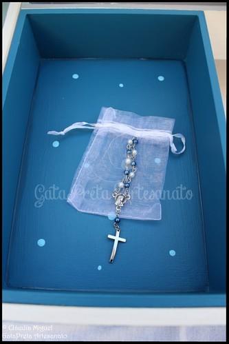 """Caixa grande de batizado """"Deep Blue Angel"""""""