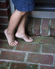 Feet (scottbarnes4) Tags: feet toes brick bricks moss boy