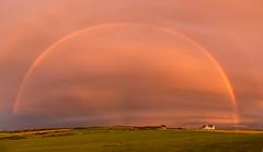 Under the rainbow (Maria-H) Tags: llanfaethlu wales unitedkingdom gb sunset rainbow anglesey panorama panasonic gh4 dmcgh4 1235