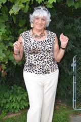 The Joy Of Being An Older Woman (Laurette Victoria) Tags: woman lady female laurette silver pants animalprint necklace