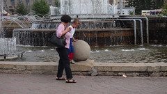 Novosibirsk. August 2016 (nikolasrybin) Tags: russia august summer siberia traveling novosibirsk urban street 2016 architecture olympus pen epl3 fountain