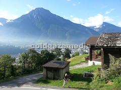 20150918_095517 (coldgazemedia) Tags: photobank stockphoto scenery schweiz switzerland swissvillage swissalps landscape naters brig alps mountain swisshuts alpine alpinehut bluesky blue panorama green tree