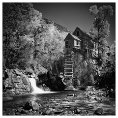 Crystal Mill (Bryan the Roving Vagabond) Tags: crystal mill marble colorado co bw black white blackwhite landscape monochrome blackandwhite photo border surreal outdoor explore
