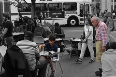 (Lidiya Nela) Tags: nyc newyork newyorkcity manhattan urban city people selectivecolor partialcolor chess unionsquare