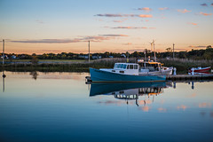 Sunset Boat (Evan's Life Through The Lens) Tags: camera 5d mark mk three 3 iii lens glass zoom wide telephoto 2470mm f28 vibrant color blue green orange ocean water outdoors outside bike escape cold autumn 2016 femur recovery alone