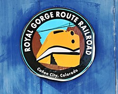 Royal Gorge Route Railroad (Laurence's Pictures) Tags: royal gorge train engine f7 locomotive classic streamliner passenger rail railway emd gm electromotive steel transportation