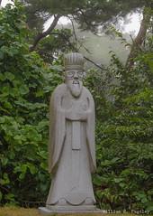 Misty Morning (wrpugsley) Tags: country fog gravemarker rural statue trees southkorea chungcheongnamdo