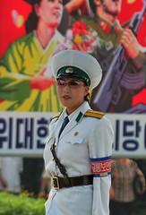 Traffic Girl (Ray Cunningham) Tags: girl traffic north korea pyongyang dprk