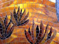 Joshua Tree, detail (cbmosaics - Christine Brallier) Tags: cactus rabbit art landscape desert mosaic joshuatree mosaics stainedglass millefiori cbmosaics christinebrallier