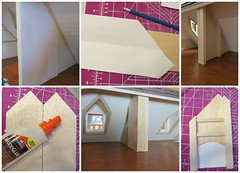 Building Attic Fireplace (Foxy Belle) Tags: wood old brick scale make early miniature wooden fireplace floor bass handmade cut egg colonial american balsa attic third carton how build 112 tutorial dollhouse fashioned