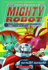 Ricky Ricotta's Mighty Robot vs. the Jurassic Jackrabbits from Jupiter (Vernon Barford School Library) Tags: new school fiction reading book robot high humorous dinosaur library libraries humor reads books super humour read paperback robots mice cover junior planet planets novel covers heroes bookcover rabbits jupiter ricotta pick middle vernon quick mighty ricky recent jurassic dinosaurs picks qr bookcovers paperbacks novels fictional jackrabbits barford softcover davpilkey quickreads quickread vernonbarford softcovers dansantat rickyricotta superquickpicks superquickpick 9780545630139