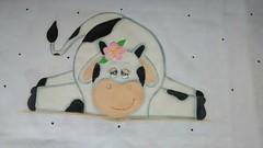 Vaquinha cansada (Pintura em tecido. Panos de prato.) Tags: vaca vaquinha pinturacountry pinturaemtecido panodeprato panodecopa