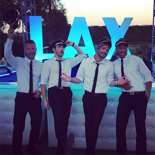 The guys are excited to bartend at the Playboy Mansion tonight!! #bartenders #events #beverlyhills #lax #eventlife #breadandwine #eola #playboymansion #aloexperience #werk #girlboss #staffing #200ProofLA #200Proof