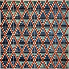 Stroopwafel of Bricks & Glass (Paul Brouns) Tags: holland building geometric netherlands architecture facade square paul pattern diagonal squareformat townhall gouda brouns iphoneography huisvandestad instagramapp paulbrouns paulbrounscom