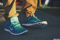 nike free 4.0 flyknit (thatgirlwiththekicks) Tags: blue shoes bokeh turquoise free sneakers nike kicks 40 joggers flyknit