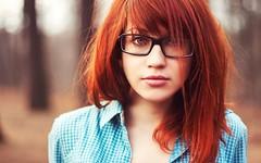 11 (SuckTheButton) Tags: shirt glasses redhead plaid unbuttoned