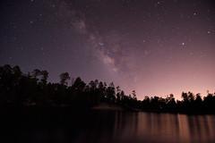 Over the lake (JLandau Photography) Tags: tucson arizona casagrande domes smoke mask milkyway longexpo steelwool steel wool night photography orb long exposure portrait stars