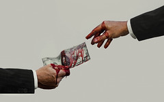 The Creation of Greed (Barney Gibbons) Tags: camera nottingham money men adam photoshop canon photography corporate blood hands suits god surrealism political jesus surreal note capitalism exchange masculinity nottinghamshire greed sistinechapel michaelangelo wealth bloodmoney photosho photograohy thecreationofadam canon550d creationofada