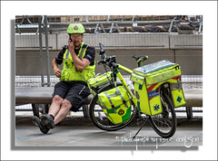 ETA 2 Minutes (Fermat48) Tags: england manchester ambulance nhs stpeterssquare cycleresponseunit