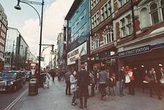 HMV (goodfella2459) Tags: street color colour london film analog 35mm lens nikon surreal voice oxford his 100 24mm masters af nikkor milf f4 specialty hmv implosion c41 f28d adox