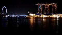 MARINA BAY TIMELAPSE (::: a j z p h o t o g r a p h y :::) Tags: nightphotography travel tourism marina bay timelapse twilight singapore nightscape landmark twilightsky singaporeflyer marinabaysands nighttimelapse artsciencemuseum daytonighttimelapse