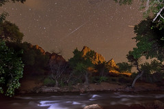 Zion Watchman River Long Expo (K Cutler) Tags: park way stars utah long exposure desert nps canyon national astrophotography zion milky watchman